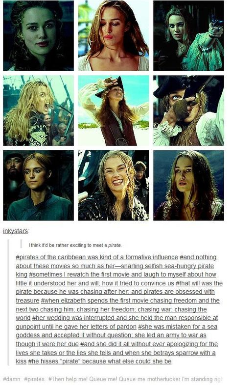 Elizabeth is the most pirate-y character in all of the Pirates of the Caribbean . - Elizabeth is the most pirate-y character in all of the Pirates of the Caribbean movies - Narnia, Disney Pixar, Disney And Dreamworks, The Pirates, Pirates Of The Caribbean, Female Pirates, Will Turner, Dc Movies, Movie Tv