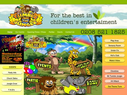 Tumble In The Jungle Soft Play Centre Childrens Entertainment - Childrens birthday party ideas in london