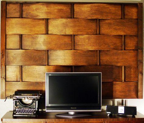 Woven Wood  Wall Art
