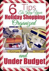 Awesome Tips to Keep Your Holiday Shopping Organized and Under Budget  6 Tips to...#awesome #budget #holiday #organized #shopping #tips