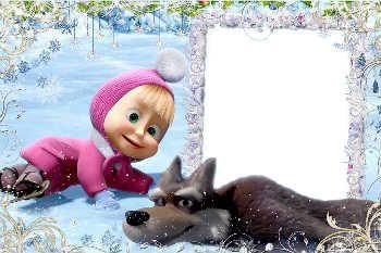 Molduras Para Fotos Gratis Online Categoria Masha E O Urso Christmas Border Frame Crochet Hats