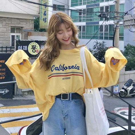 CALIFORNIA AT 1980 LONG SLEEVE TEE - Yellow / One Size