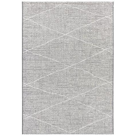 Blois Flatweave Light Grey Dark Grey Indoor Outdoor Rug Elle Decor