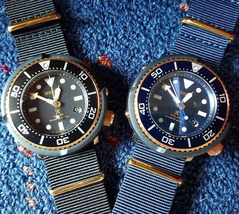 いいね!164件、コメント9件 ― Nick Setiawanさん(@nicksetiawan)のInstagramアカウント: 「Black and blue Seiko tuna lowercase limited #sbdn026 #sbdn028 #seiko #seikowatch #seikosolar…」