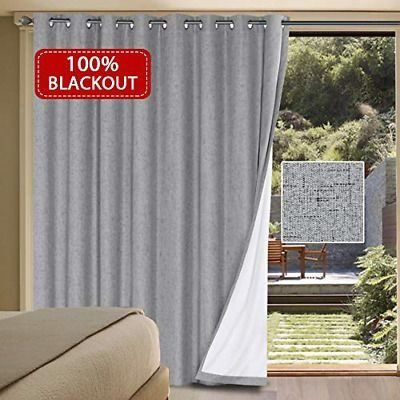 Sponsored Link Blackout Patio Door Linen Curtains For Sliding Door Extra Long 1000 In 2020 Linen Curtains Curtains Insulated Curtains
