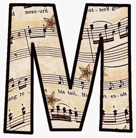 Letras Para Imprimir Y Recortar De Notas Musicales Partituras Musicales Notas Musicales Para Imprimir Letra Musical