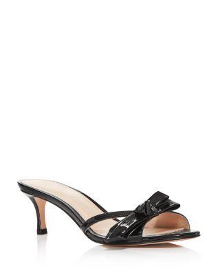 Kate Spade New York Women S Simona Backless Kitten Heel Sandals Bloomingdale S Kitten Heel Sandals Kitten Heel Shoes Size 12 Women Shoes
