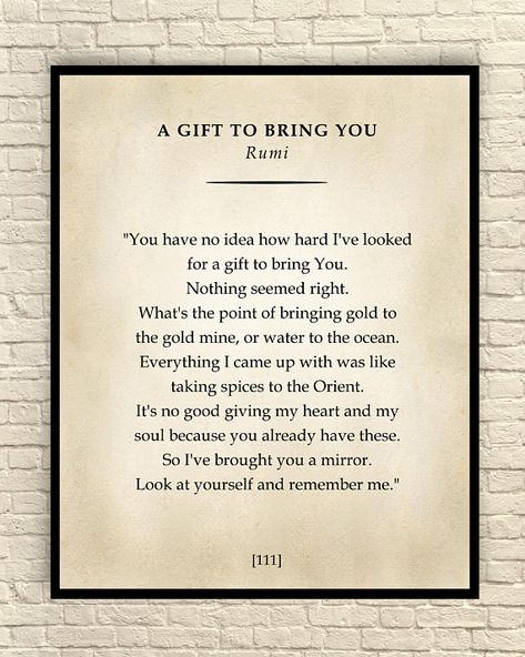 A Gift to Bring You Poem Classic Poem Art Print Poetry Wall