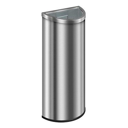 12 Gallon Stainless Steel Crescent Trash Cans Warehouse