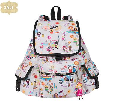 ccb66c0f03c Disney It s a Small World Collection by LeSportsac - 2375 Voyager Backpack  with Charm