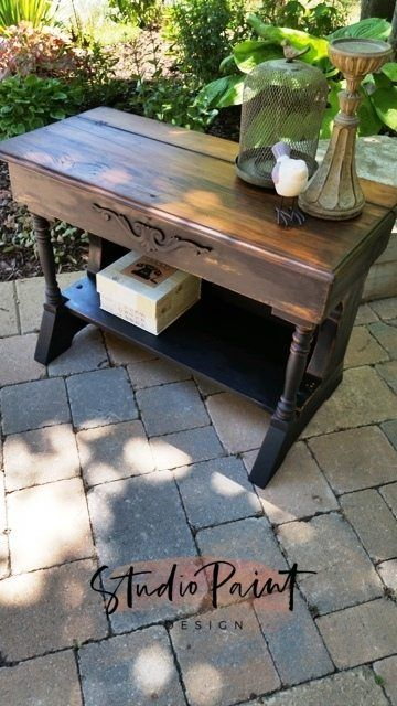 Old Fashioned Milk Paint Farmhouse Fun Bench Shabby Chic Furniture Furniture Blue Painted Furniture