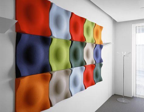 Ecophon Solo Deckensegel Raumakustik Schalldämmung in Großraumbüros