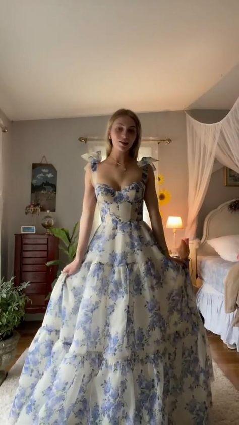 Elegant Floral Prom Dress 2021