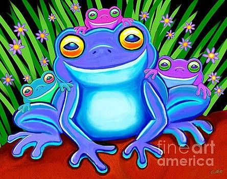 Froggy Family By Nick Gustafson Art Pages Art Digital Artwork
