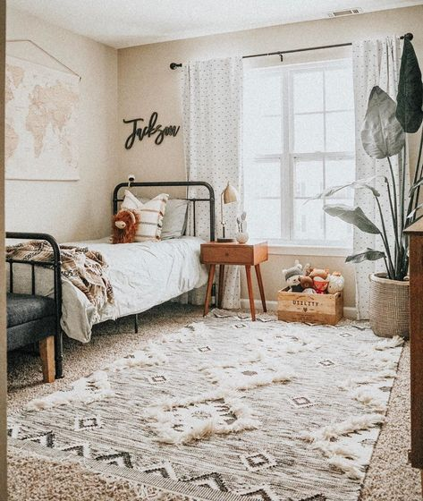 The Brooklyn Iron Bed for Jackson🤗  Featured: The Brooklyn Iron Bed 📸 Boho Teen Bedroom, Boho Room, Dream Teen Bedrooms, Boho Chic Bedroom, Big Boy Bedrooms, Black Bedrooms, Girls Bedroom, Room Ideas Bedroom, Bedroom Decor