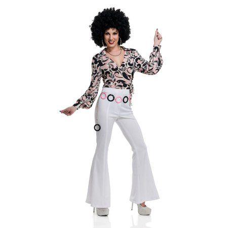 Womens 70s Queen Disco Shirt Female Disco Shirt