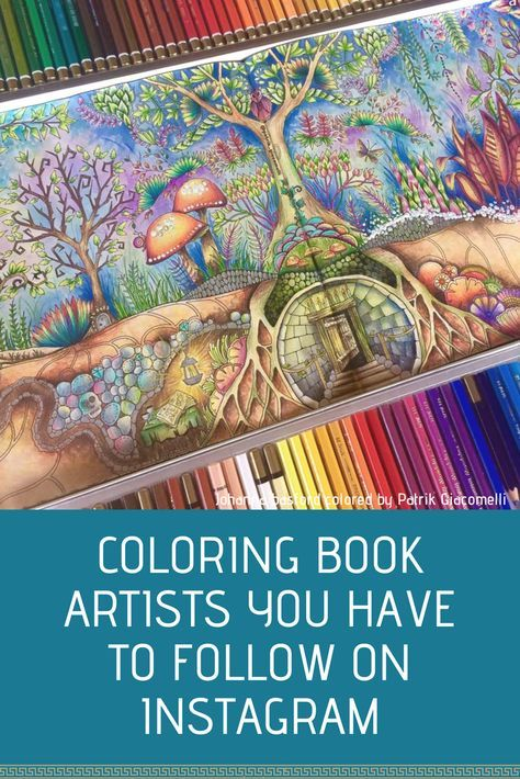 Coloring Inspiration Coloring Book Artist Patrik Giacomelli Enchanted Forest Coloring Book Coloring Books Johanna Basford Coloring Book