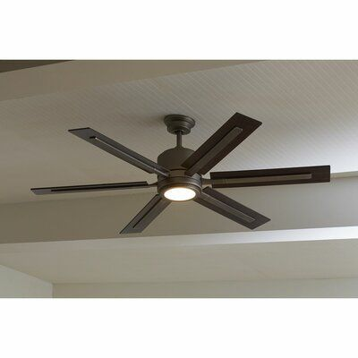 Union Rustic 60 Lesure 6 Blade Led Ceiling Fan With Remote Light
