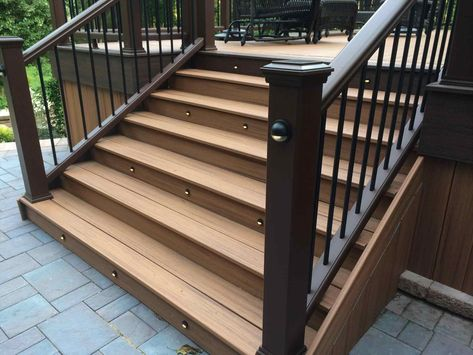 Trex Decking Stair Stringer Spacing Decks Ideas In Proportions 1900 X 1425 Trex Stairs Deck Stairs Trex Deck