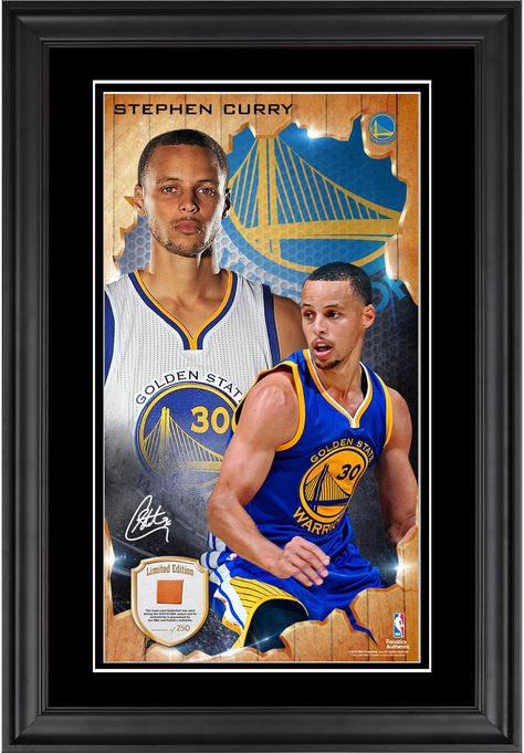 Stephen Curry Signed Golden State Warriors Limited Edition Memorabilia Framed