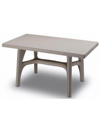 Tavolo Giardino Plastica Bianco.Tavolo Rettangolare Fisso In Resina Per Esterno Disponibile Nei
