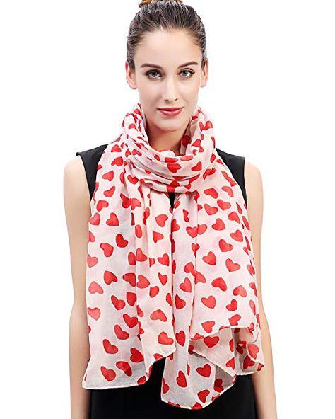 Heart Scarf Beige Grey Ladies Large Love Hearts Wrap Shawl New