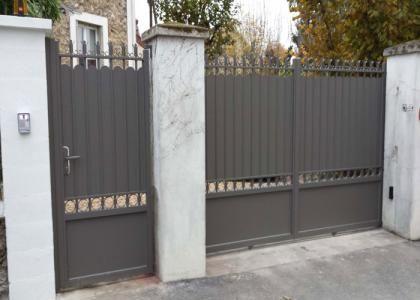 Portail Traditionnel Aspect Fer Forge Secteur Gisors Portail Portail Coulissant Fer Portail Maison