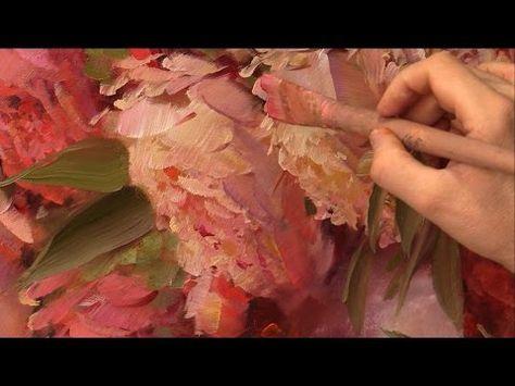▶ Татьяне. Пионы. Живопись маслом Alla Prima. Process of creating oil painting from Oleg Buiko. - YouTube