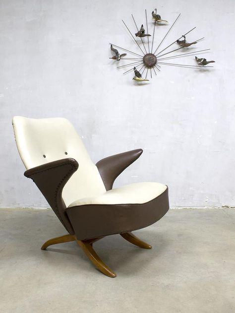 Artifort Bureaustoel Vintage.Vintage Lounge Chair Congo Artifort Theo Ruth Pinguin Fauteuil