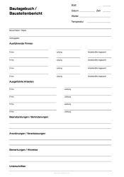 Bautagebuch Baustellenbericht Bautagebuch Ausdrucken Bauvorhaben