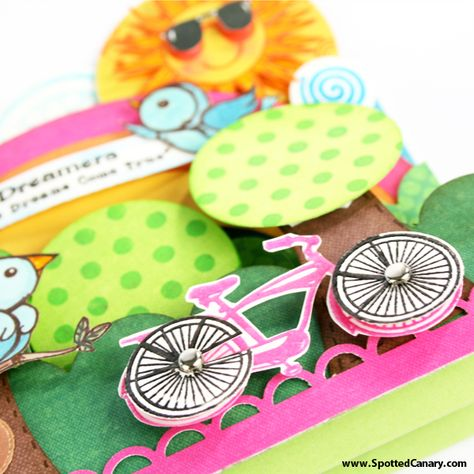 Interactive Cards Tutorial Make Cards that Spin, Flip Flop, Stair Step and Tri Fold Shutter - on Spotted Canary