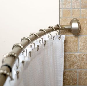 One Piece Curved Shower Curtain Rod