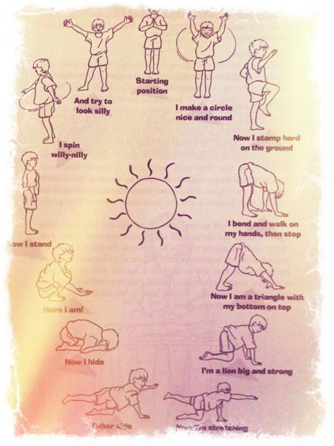 A Sun Salutation For Children Yoga For Kids Childrens Yoga