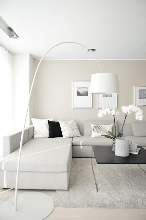 Wohnen in Weiß 3 Tipps Living rooms, Calming and Modern