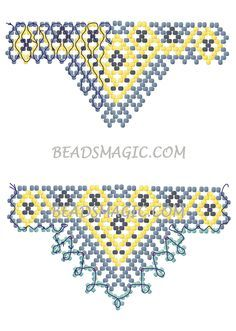 free-beading-tutorial-pattern- for beaded necklace Sultan