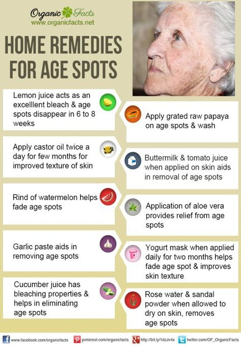 Home Remedies for Age Spots | Organic Facts- The home remedies for age spots include lemon juice, onion, apple cider vinegar, aloe vera juice, castor oil, olive oil, cucumber, papaya, orange juice, butter milk, garlic, dandelion, radish, rosemary oil, rose water, sandal powder, shade, and covering the spots.