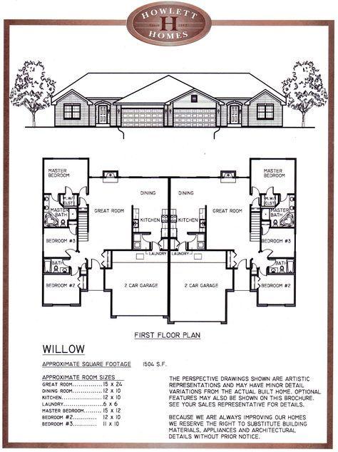 3 Bedroom 2 Bath Duplex Floor Plans Duplex Floor Plans Duplex House Design Duplex House Plans