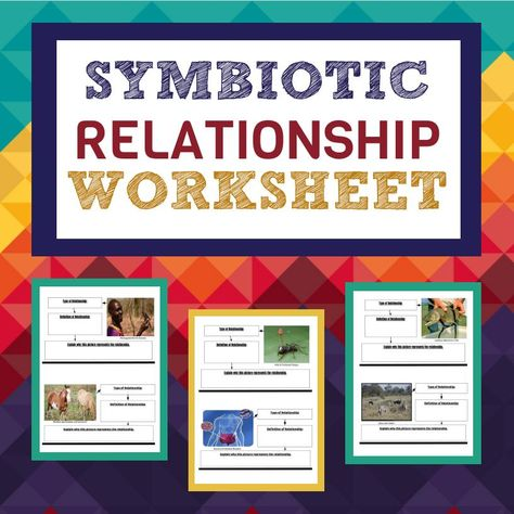 Symbiotic Relationship Worksheet Relationship Worksheets Symbiotic Relationships Biology Curriculum