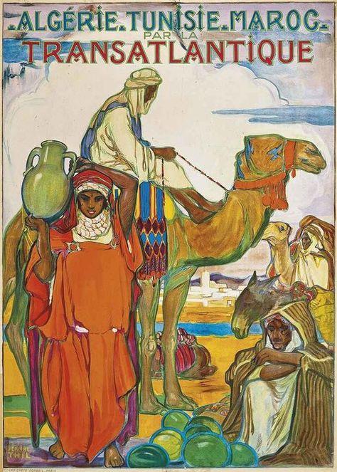 SEE Algeria Tunisia Camel Desert Travel Tourism Vintage Poster Repro FREE S//H