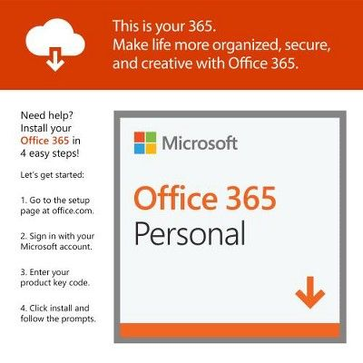 Microsoft Office 365 Personal 1 Year Subscription For 1 User Office 365 Personal Microsoft Office Office 365