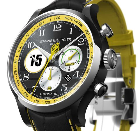 """Baume & Mercier 'Legendary Driver' Capeland Shelby Cobra Limited Edition Watches - by Richard Cantley - See more of these Cobra-inspired watches now at: aBlogtoWatch.co - """"As part of their continued partnership with Shelby Cobra and in celebration of the 25th anniversary of McCall's Annual Motorworks Revival, Baume & Mercier are releasing four limited edition 'Legendary Driver' chronograph watches to honor four drivers..."""""""
