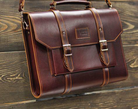 Портфели сумки из кожи