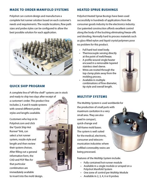 Made to order Manifold Systems   wwwpolyshot/product