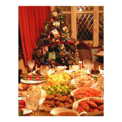 2020 Christmas Party Menu Christmas Dinner Flyer | Zazzle.in 2020 | Christmas dinner