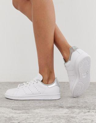 adidas Originals Stan Smith Baskets Blanc et argenté