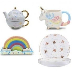 new unicorn tableware including teapot from 3 asda george unicorn tea pots tableware pinterest