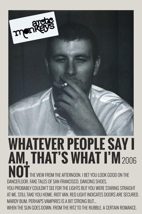 Alternative Minimalist Music Album Polaroid Poster - Arctic Monkeys