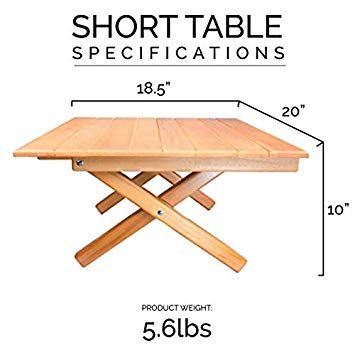 Simple Setup Short Table All Purpose Use And Portability Beach Picnic Camp Or Patio Table All Wood Strong Table Height 10 Patio Table Picnic Table