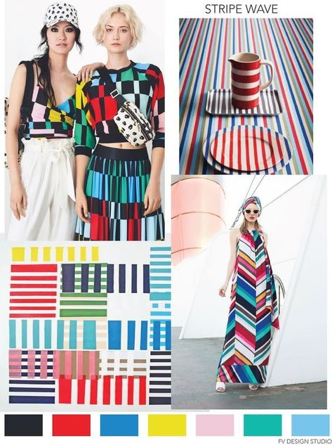 FV TREND X COLOR | STRIPE WAVE - SS 2019, a fashion post from the blog FASHION V ...  #blog #color #fashion #FV #post #SS #stripe #trend #Wave