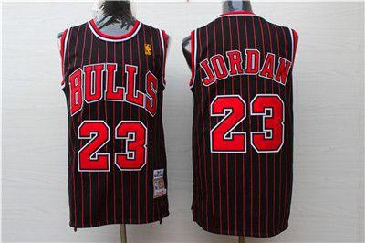 online retailer 842e0 48105 Nike Bulls #23 Michael Jordan Black Stripe Stitched NBA ...